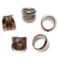 Lampwork Fingerring, unisex & Goldsand, gemischte Farben, 25x25mm-27x23mm, Größe:9.5, 12PCs/Box, verkauft von Box