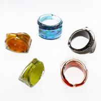 Lampwork Fingerring, unisex & Goldsand, gemischte Farben, 26x28x16mm, Größe:12, 12PCs/Box, verkauft von Box