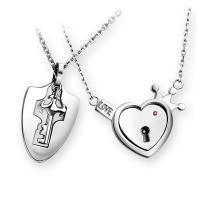 Edelstahl Ehepaar Halskette, Oval-Kette, 20x30mm, 19x17mm, Länge:ca. 19.3 ZollInch, ca. 18 ZollInch, verkauft von Paar