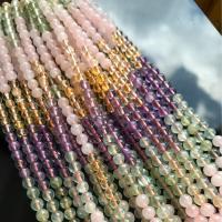 Natürlicher Quarz Perlen Schmuck, rund, verschiedene Größen vorhanden, gemischte Farben, 6mm,8mm,10mm,12mm, verkauft von Strang