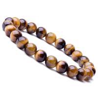 Natürliche Tiger Eye Armband, Tigerauge, rund, unisex, braun, 8mm, Länge:ca. 6.9 ZollInch, 10SträngeStrang/Menge, verkauft von Menge