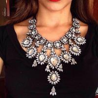 Kristall Zinklegierung Halskette, mit Kristall, Zinklegierung Karabinerverschluss, plattiert, für Frau, keine, frei von Blei & Kadmium, verkauft von Strang