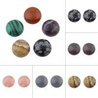 Edelstein Cabochons, flache Runde, verschiedenen Materialien für die Wahl, keine, 25x8mm, verkauft von PC