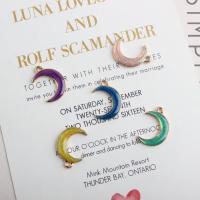 Zinklegierung Mond Anhänger, goldfarben plattiert, Emaille, keine, frei von Nickel, Blei & Kadmium, 14*20mm, ca. 10PCs/Tasche, verkauft von Tasche