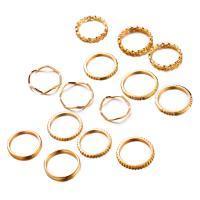 Zink-Legierungsring-Set, Zinklegierung, goldfarben plattiert, unisex, frei von Nickel, Blei & Kadmium, 50mm,55mm,60mm,65mm,70mm,85mm, verkauft von PC