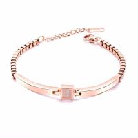 Titanstahl Armband, plattiert, Micro pave Zirkonia & für Frau, keine, frei von Nickel, Blei & Kadmium, 7mm, Länge:ca. 7 ZollInch, verkauft von PC