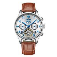 TEVISE® Uhrenkollektion, Zinklegierung, mit Leder & organisches Glas, Edelstahl Dornschließe, plattiert, für den Menschen, keine, 42x235mm, verkauft von PC