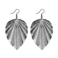 Zinklegierung Ohrringe, Blatt, plattiert, für Frau, keine, frei von Nickel, Blei & Kadmium, 40x72mm, verkauft von Paar
