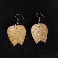 Kunstleder Tropfen Ohrring, mit Zinklegierung, Zinklegierung Haken, für Frau, keine, 35x45mm, 10PaarePärchen/Menge, verkauft von Menge