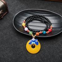 Harz Halskette, mit Zinklegierung, für Frau, 230mm, verkauft per 9 ZollInch Strang