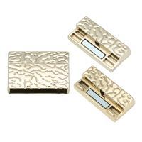 Zinklegierung Magnetverschluss, plattiert, goldfarben, frei von Blei & Kadmium, Innendurchmesser:ca. 30mm, verkauft von Tasche