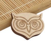 Holz Cabochon, Eule, Kunstdruck, beige, 29x24x5mm, ca. 1000PCs/Tasche, verkauft von Tasche