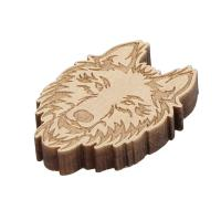 Holz Cabochon, Wolf, Kunstdruck, beige, 22x30x5mm, ca. 1000PCs/Tasche, verkauft von Tasche