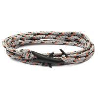 Terylen Schnur Armband, mit Zinklegierung, Hai, mehrschichtig & unisex, keine, Länge:ca. 29 ZollInch, 10SträngeStrang/PC, verkauft von PC