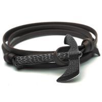 PU Schnur Armbänder, PU Leder, mit Zinklegierung, Axt, plattiert, mehrschichtig & für Frau, keine, Länge:ca. 29 ZollInch, 10SträngeStrang/PC, verkauft von PC