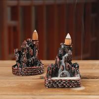 Porcelain Backflow Incense Burner, Harz, handgemacht, verschiedene Stile für Wahl, braun, verkauft von PC