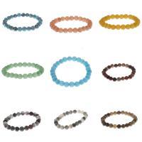 gemischter Achat Armband, mit Naturstein, rund, unisex, keine, 8mm, verkauft von Strang