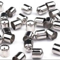 Messing Endkappe, keine, frei von Nickel, Blei & Kadmium, 8mm, Bohrung:ca. 1.2mm, Innendurchmesser:ca. 8mm, ca. 1000PCs/Menge, verkauft von Menge