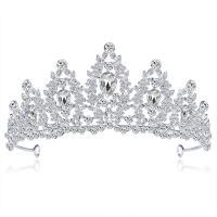 Krone, Zinklegierung, mit Kristall, plattiert, für Braut & mit Strass, keine, 143x64mm, verkauft von PC
