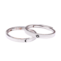Messing Paar- Ring, platiniert, einstellbar & verschiedene Stile für Wahl & Epoxy Aufkleber, frei von Nickel, Blei & Kadmium, 2.5mm, 16mm, 3mm,18mm, Größe:6-11, 10PCs/Menge, verkauft von Menge