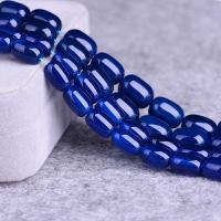 Blauer Achatsee Perle, poliert, DIY & verschiedene Größen vorhanden, säurenblau, verkauft per ca. 15 ZollInch Strang