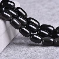 Schwarze Obsidian Perlen, poliert, DIY & verschiedene Größen vorhanden, schwarz, verkauft per ca. 15 ZollInch Strang