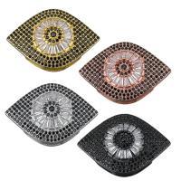 Messing Diacharme, Auge, plattiert, Micro pave Zirkonia, keine, frei von Nickel, Blei & Kadmium, 32.50x22x7.50mm, Bohrung:ca. 1.5x5.5mm, ca. 10PCs/Menge, verkauft von Menge