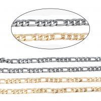 Eisen Schmuckketten, plattiert, Figaro Kette, keine, frei von Nickel, 600*2*6mm, 5SträngeStrang/Menge, verkauft von Menge