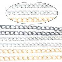 Twist ovale Einsenkette, Eisen, plattiert, keine, frei von Nickel, 8*600*2mm, Länge:ca. 47.2 ZollInch, 5SträngeStrang/Tasche, verkauft von Tasche