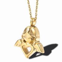 Titanstahl Engel, plattiert, unisex & Oval-Kette & verschiedene Stile für Wahl, 23x22mm, verkauft per ca. 19.7 ZollInch Strang