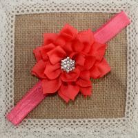Stirnband, Stoff, mit Strass, Blume, für Kinder, keine, 75mm, 10PCs/Menge, verkauft von Menge