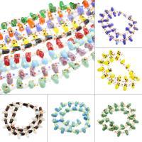 Holprige Lampwork Perlen, uneben, keine, 13x14x9mm, Bohrung:ca. 1mm, ca. 100PCs/Tasche, verkauft von Tasche