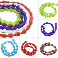 Holprige Lampwork Perlen, Mais, uneben, keine, 11x15mm, Bohrung:ca. 1mm, ca. 100PCs/Tasche, verkauft von Tasche
