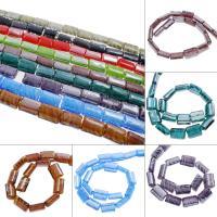 Innerer Twist Lampwork Perlen, Rechteck, innen Twist, keine, 16x22x9mm, Bohrung:ca. 2mm, ca. 100PCs/Tasche, verkauft von Tasche
