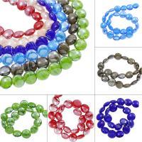 Innerer Twist Lampwork Perlen, flache Runde, innen Twist, keine, 19x10mm, Bohrung:ca. 2mm, ca. 100PCs/Tasche, verkauft von Tasche