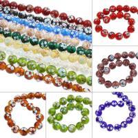 Goldsand Lampwork Perlen, rund, keine, 15mm, Bohrung:ca. 1mm, ca. 100PCs/Tasche, verkauft von Tasche