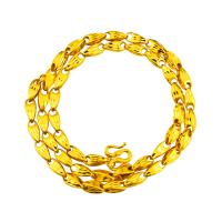 Messing Halskette, vergoldet, Bar-Kette & für den Menschen, frei von Nickel, Blei & Kadmium, verkauft per ca. 23.2 ZollInch Strang