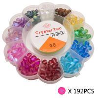 Labradorit Perlen, Einbrennlack, satiniert, gemischte Farben, Bohrung:ca. 1mm, 192PCs/Box, verkauft von Box