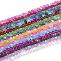 Mondstein Perlen, poliert, verschiedene Größen vorhanden & satiniert, keine, Bohrung:ca. 1mm, verkauft von Strang