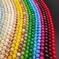 Knistern Quarz Perlen, poliert, verschiedene Größen vorhanden, keine, Bohrung:ca. 1mm, verkauft von Strang