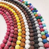 Natürliche Lava Perlen, poliert, verschiedene Größen vorhanden, keine, Bohrung:ca. 1mm, verkauft von Strang
