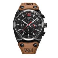 Benyar® Uhrenkollektion, Leder, mit Glas & Edelstahl & Zinklegierung, plattiert, einstellbar & für den Menschen, keine, 46x16mm, Länge:ca. 9 ZollInch, verkauft von PC