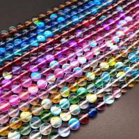 Labradorit Perlen, poliert, verschiedene Größen vorhanden, keine, Bohrung:ca. 1mm, verkauft von Strang