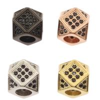 Strass Messing Perlen, plattiert, mit Strass, keine, frei von Nickel, Blei & Kadmium, 8x11x8mm, Bohrung:ca. 2mm, verkauft von PC