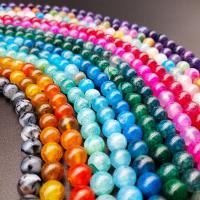 Natürliche Drachen Venen Achat Perlen, Drachenvenen Achat, poliert, verschiedene Größen vorhanden, keine, Bohrung:ca. 1mm, verkauft von Strang
