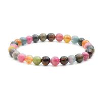 Natürliche Turmalin Armband, rund, verschiedene Größen vorhanden & Strahlenschutz & für Frau, farbenfroh, verkauft von Strang