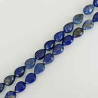 Lapislazuli Perlen, Tropfen, blau, 10x14mm, Bohrung:ca. 1mm, ca. 29PCs/Strang, verkauft per ca. 16 ZollInch Strang