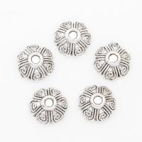 Zinklegierung Perlenkappe, Blume, antik silberfarben plattiert, 9*4mm, Bohrung:ca. 2mm, 2Taschen/Menge, ca. 1500PCs/Tasche, verkauft von Menge