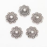 Zinklegierung Perlenkappe, Blume, antik silberfarben plattiert, frei von Nickel, Blei & Kadmium, 14*5mm, Bohrung:ca. 1mm, 2Taschen/Menge, 750PCs/Tasche, verkauft von Menge