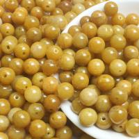 Jadeit Perlen, rund, natürlich, poliert & DIY, gelb, 9.5-10mm, 220/Menge, verkauft von Menge